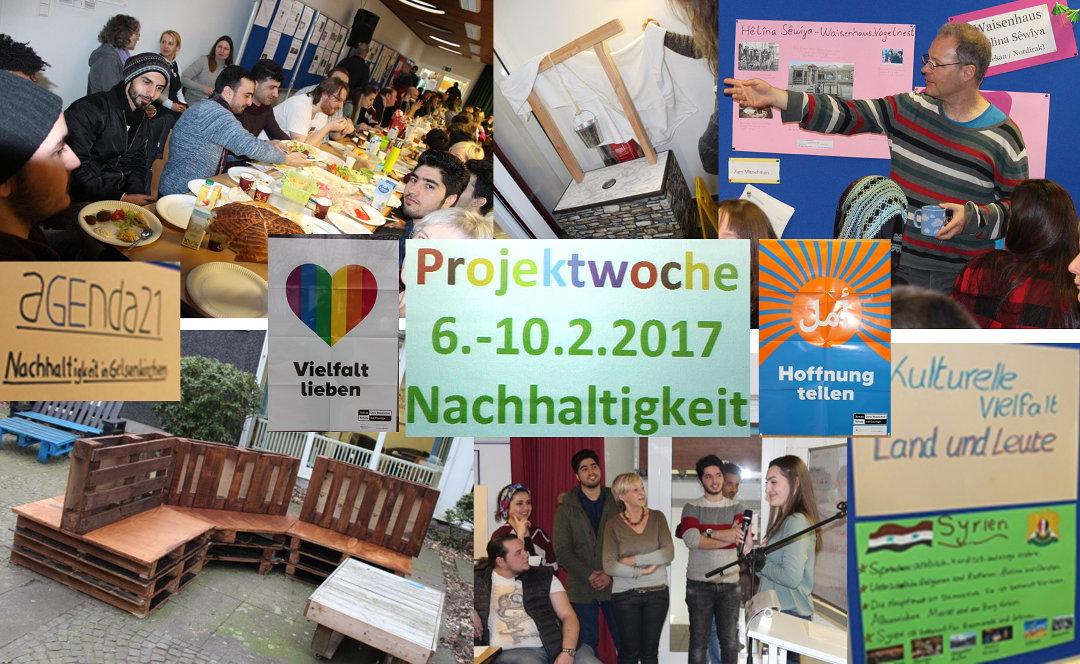 Collage von der Projektwoche 2017 am WEL zum Thema Nachhaltigkeit