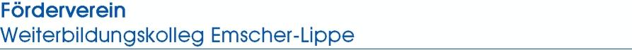 Förderverein Weiterbildungskolleg Emscher-Lippe