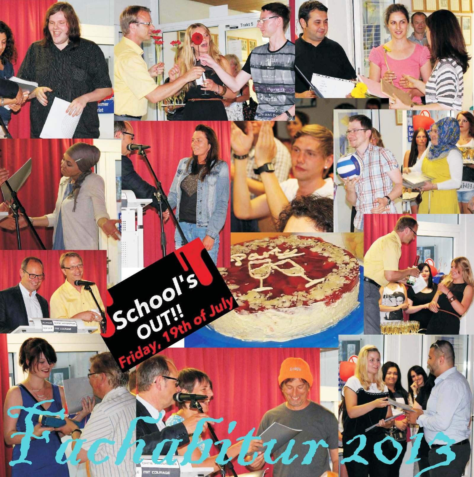 Fotos von der Zeugnisübergabe und Feier