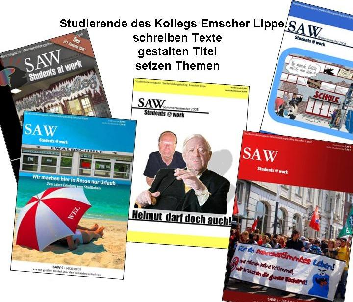 Studierende des Kollegs Emscher-Lippe schreiben Texte, gestalten Titel, setzen Themen