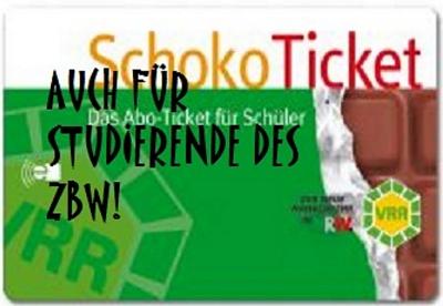 Bild / Slogan: SchokoTicket auch für Studierende des ZBW!