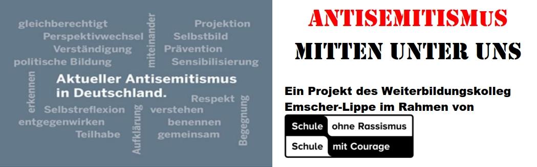 Logo: Antisemitismus - Mitten unter uns (Veranstaltungreeihe des WEL)