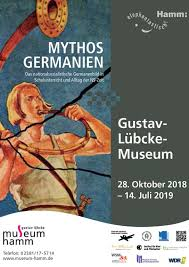 PIllustration: Plakat des Gustav-Lübcke-Museums für die Ausstellung Mythos Germanien