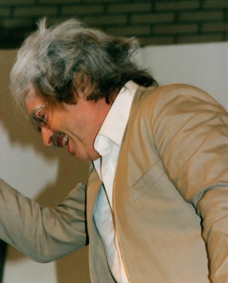 Wilhelm Bülhoff bei einer Theaterprobe zu den Physikern 1992