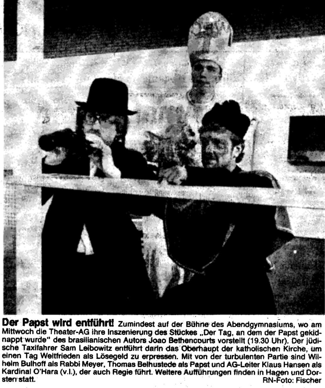 Faksimile Ruhr-Nachrichten, 2.7.1991