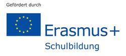 Logo: gefördert durch Erasmus+ Schulbildung