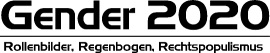 Logo Gender 2020 - Regenbogen, Rollenbilder, Rechtspopulismus